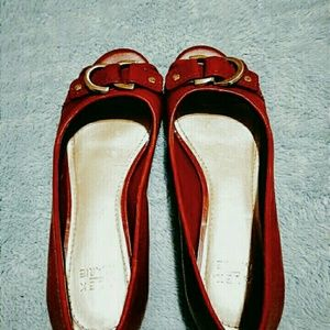 Women Red/Rust Shoes by Alex Marie Size 7M